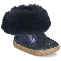 Schuhe Mädchen Boots Shoo Pom BOUBA FUR BOOTS Marineblau