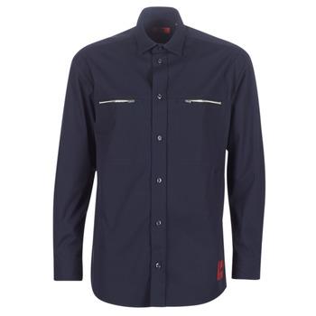 Abbigliamento Uomo Camicie maniche lunghe HUGO ETRUS Marine
