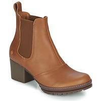 Schuhe Damen Low Boots Art CAMDEN Cognac