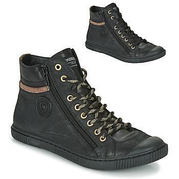 Schuhe Damen Sneaker High Pataugas BONO Schwarz