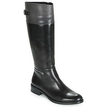 Chaussures Femme Bottes ville Dorking TIERRA Noir / Gris