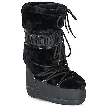Scarpe Donna Stivali da neve Moon Boot MOON BOOT CLASSIC FAUX FUR Nero