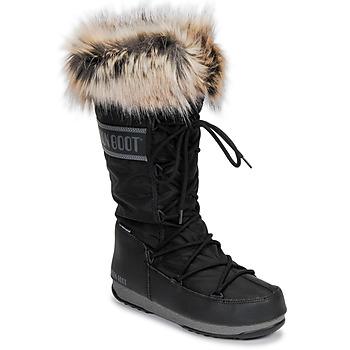 Scarpe Donna Stivali da neve Moon Boot MOON BOOT MONACO WP 2 Nero