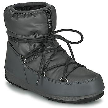 Schuhe Damen Schneestiefel Moon Boot MOON BOOT LOW NYLON WP 2 Grau