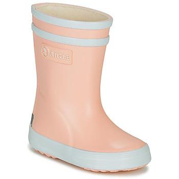 Chaussures Fille Bottes de pluie Aigle BABY FLAC Rose