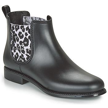 Chaussures Femme Bottes de pluie Be Only DAKAR Noir / Leopard
