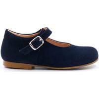 Chaussures Fille Ballerines / babies Boni & Sidonie Babies premiers pas en daim - CLEMENTINE Bleu Marine