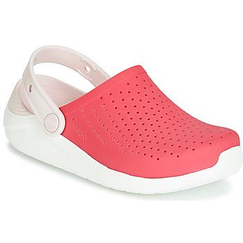 Chaussures Fille Sabots Crocs LITERIDE CLOG K Rouge / blanc