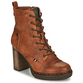 Schuhe Damen Low Boots Mustang 1336502 Cognac