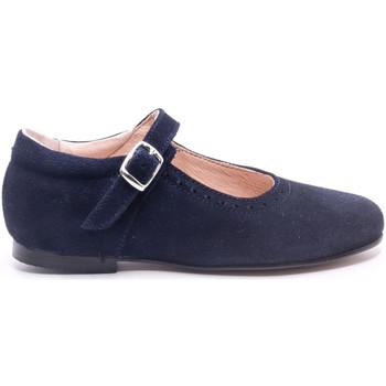 Chaussures Fille Ballerines / babies Boni & Sidonie Babies en daim à boucles - VALENTINE Daim Bleu Marine