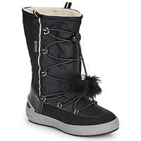 Chaussures Fille Bottes de neige Geox J SLEIGH GIRL B ABX Noir