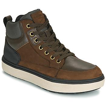 Scarpe Bambino Sneakers alte Geox J MATTIAS B BOY ABX Caffé / Nero