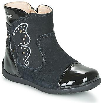 Chaussures Fille Bottes ville Geox B KAYTAN Noir