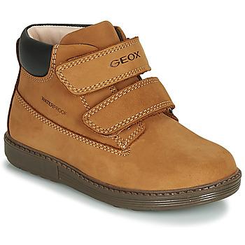 Chaussures Garçon Boots Geox B HYNDE BOY WPF Marron