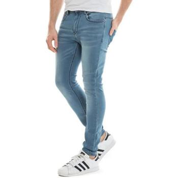 Vêtements Homme Jeans droit Waxx Pantalon joggjean BRONX Bleu