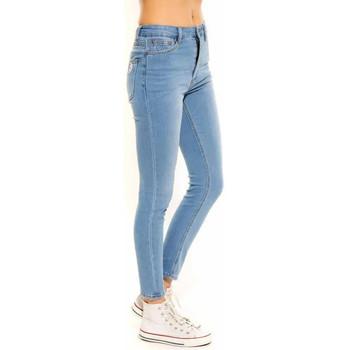 Vêtements Femme Jeans slim Waxx Pantalon joggjean TWIST Bleu