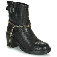 Schuhe Damen Low Boots Felmini NAHA Schwarz