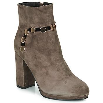 Chaussures Femme Bottines Café Noir JULIET Taupe