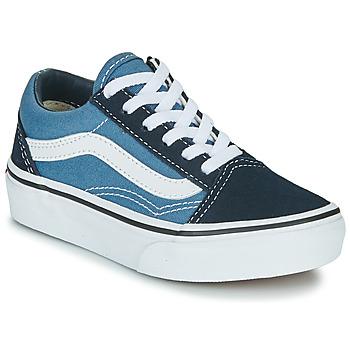 Chaussures Enfant Baskets basses Vans UY OLD SKOOL Marine / Blanc