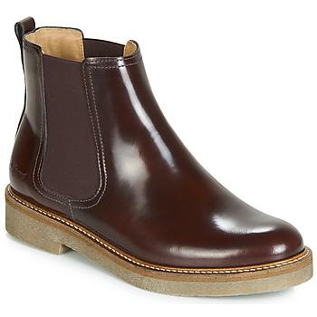 Schuhe Damen Boots Kickers OXFORDCHIC Bordeaux