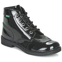 Chaussures Femme Boots Kickers KICK COL Noir Verni