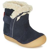 Schuhe Kinder Klassische Stiefel Kickers SOFUR Marineblau