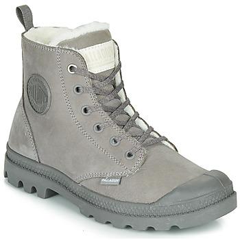 Schuhe Damen Boots Palladium PAMPA HI ZIP WL Grau