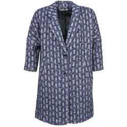 Abbigliamento Donna Cappotti See U Soon RIFFLE Blu / Bianco