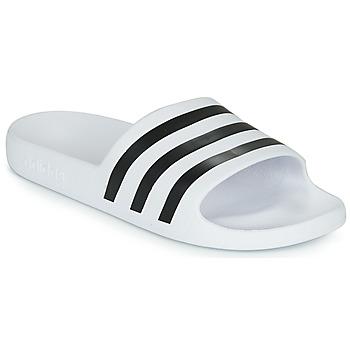 Schuhe Pantoletten adidas Performance ADILETTE AQUA Weiss