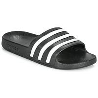 Schuhe Pantoletten adidas Performance ADILETTE AQUA Schwarz / Weiss