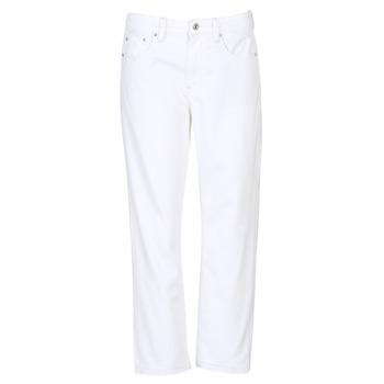 Kleidung Damen Boyfriend Jeans G-Star Raw 3301 MID BOYFRIEND 7/8 Weiß
