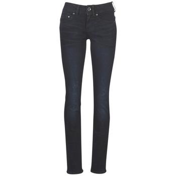 Kleidung Damen Straight Leg Jeans G-Star Raw MIDGE MID STRAIGHT WMN Blau / Dunkel