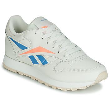 Schuhe Damen Sneaker Low Reebok Classic CL LTHR Beige / Blau / Orange