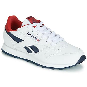 Chaussures Enfant Baskets basses Reebok Classic CLASSIC LEATHER J Blanc / rouge
