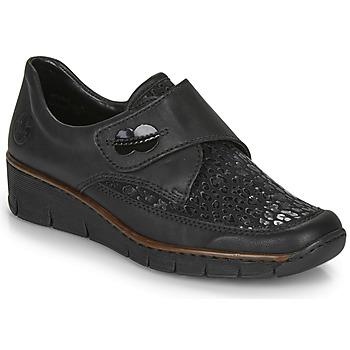 Schuhe Damen Derby-Schuhe Rieker 537C0-02 Schwarz