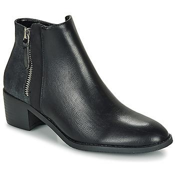 Schuhe Damen Boots Moony Mood FALINE Schwarz