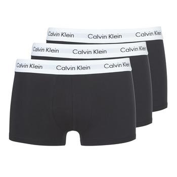 Sous-vêtements Homme Boxers Calvin Klein Jeans COTTON STRECH LOW RISE TRUNK X 3 Noir