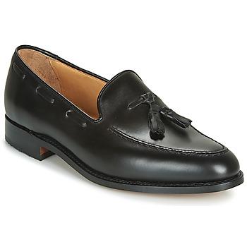 Schuhe Herren Slipper Barker TASSEL Schwarz