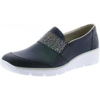 Chaussures Femme Mocassins Rieker 587w9 marine