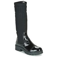 Chaussures Fille Boots Citrouille et Compagnie LAPADOU Noir
