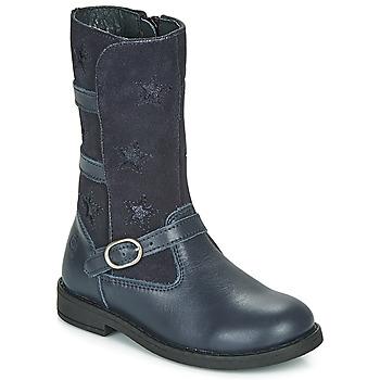 Chaussures Fille Bottes ville Citrouille et Compagnie HANDRE marine