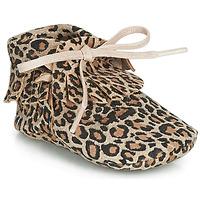 Chaussures Fille Chaussons Citrouille et Compagnie LILIFI Camel / Léopard