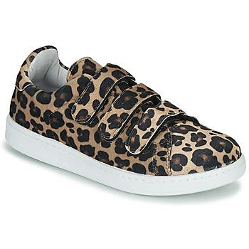 Schuhe Damen Sneaker Low Yurban LABANE Leopard