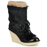 Schuhe Damen Low Boots Sonia Rykiel HAIRY Schwarz