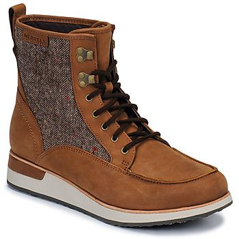 Schuhe Damen Boots Merrell ROAM MID Braun