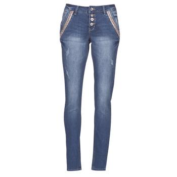 Kleidung Damen Straight Leg Jeans Cream DICTE Blau
