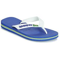 Schuhe Kinder Zehensandalen Havaianas BRASIL LOGO Marineblau