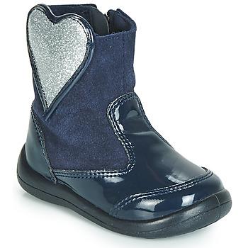 Schuhe Mädchen Boots Gioseppo BUCKLAND Marineblau / Silbrig