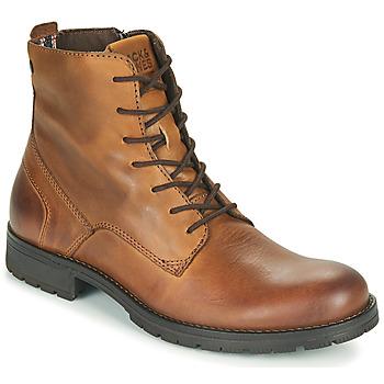 Schuhe Herren Boots Jack & Jones JFW ORCA LEATHER Kognac