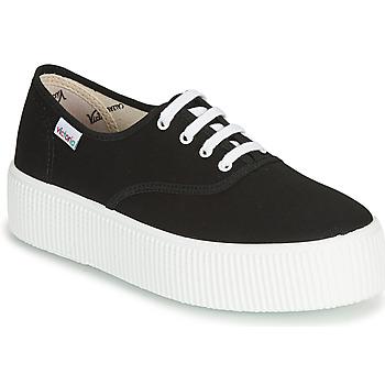 Schuhe Damen Sneaker Low Victoria 1915 DOBLE LONA Schwarz